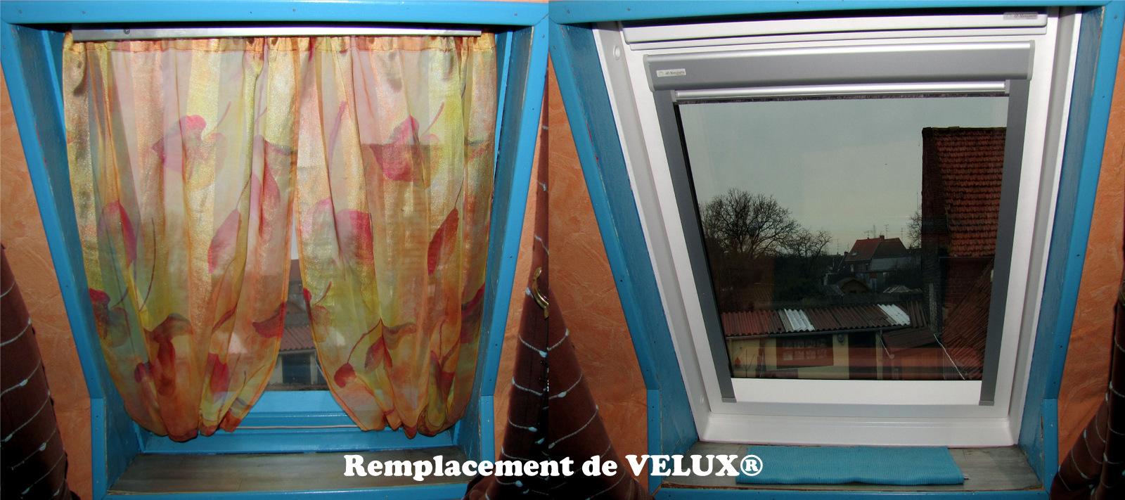 Remplacement de la fen tre de toit remplacement velux for Remplacement fenetre de toit